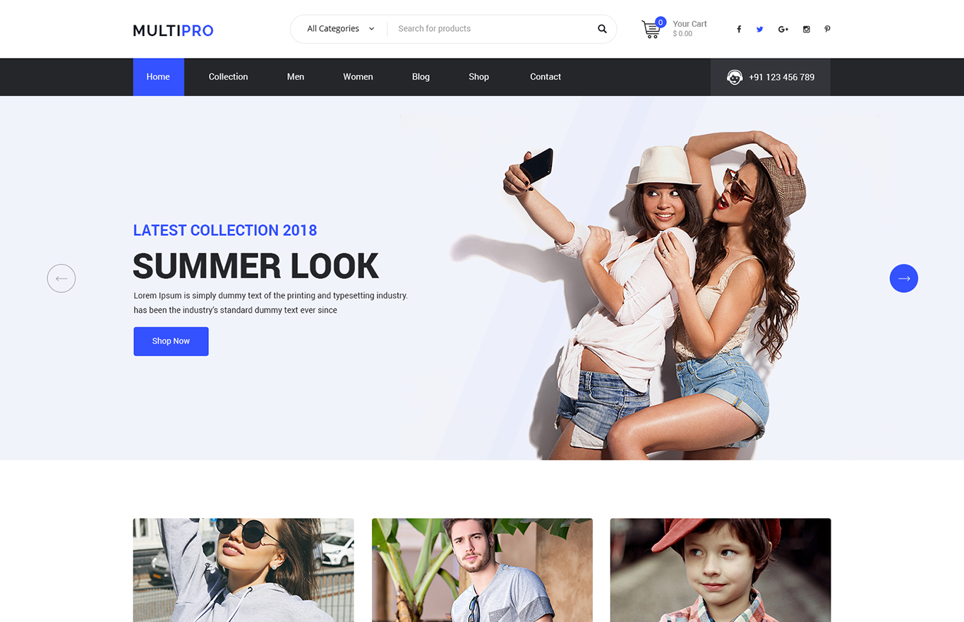 MultiPro – Multi-Purpose PSD Template