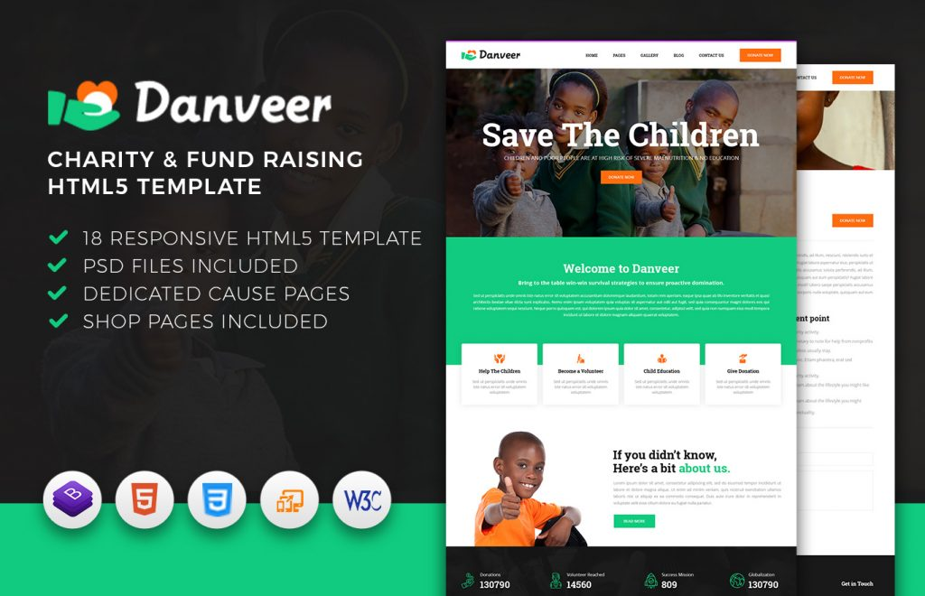 Danveer – Charity & Fund Raising Responsive HTML5 Template