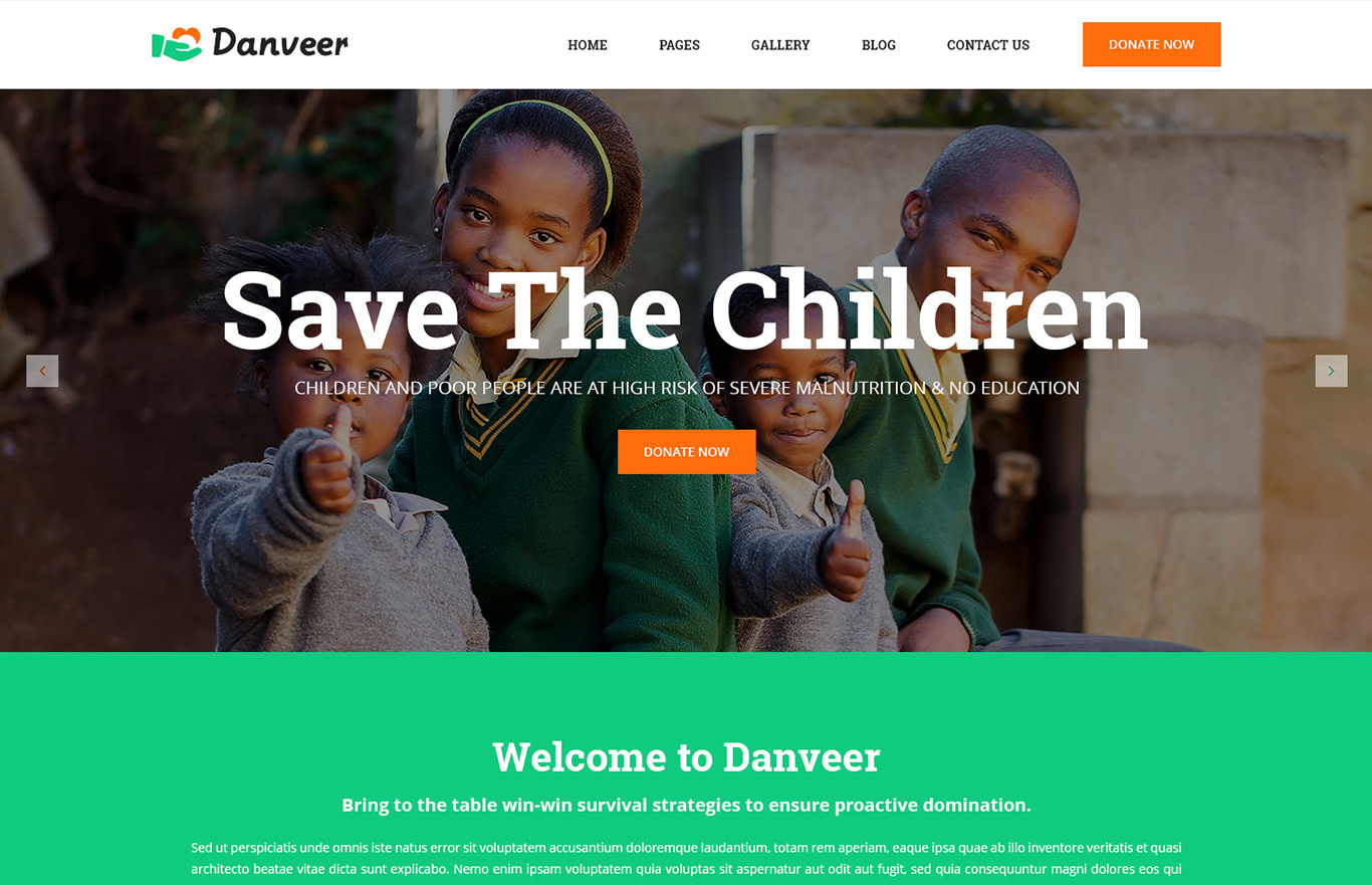 Danveer – Charity & Fund Raising Responsive HTML5 Template