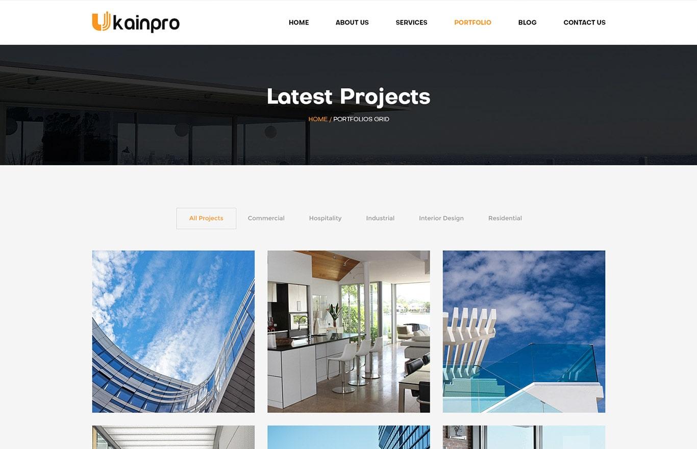 Ukainpro – Interior Design & Architecture Portfolio HTML5 Template
