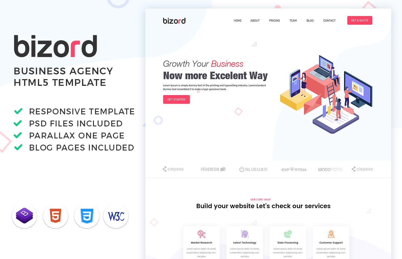 bizord agency html template