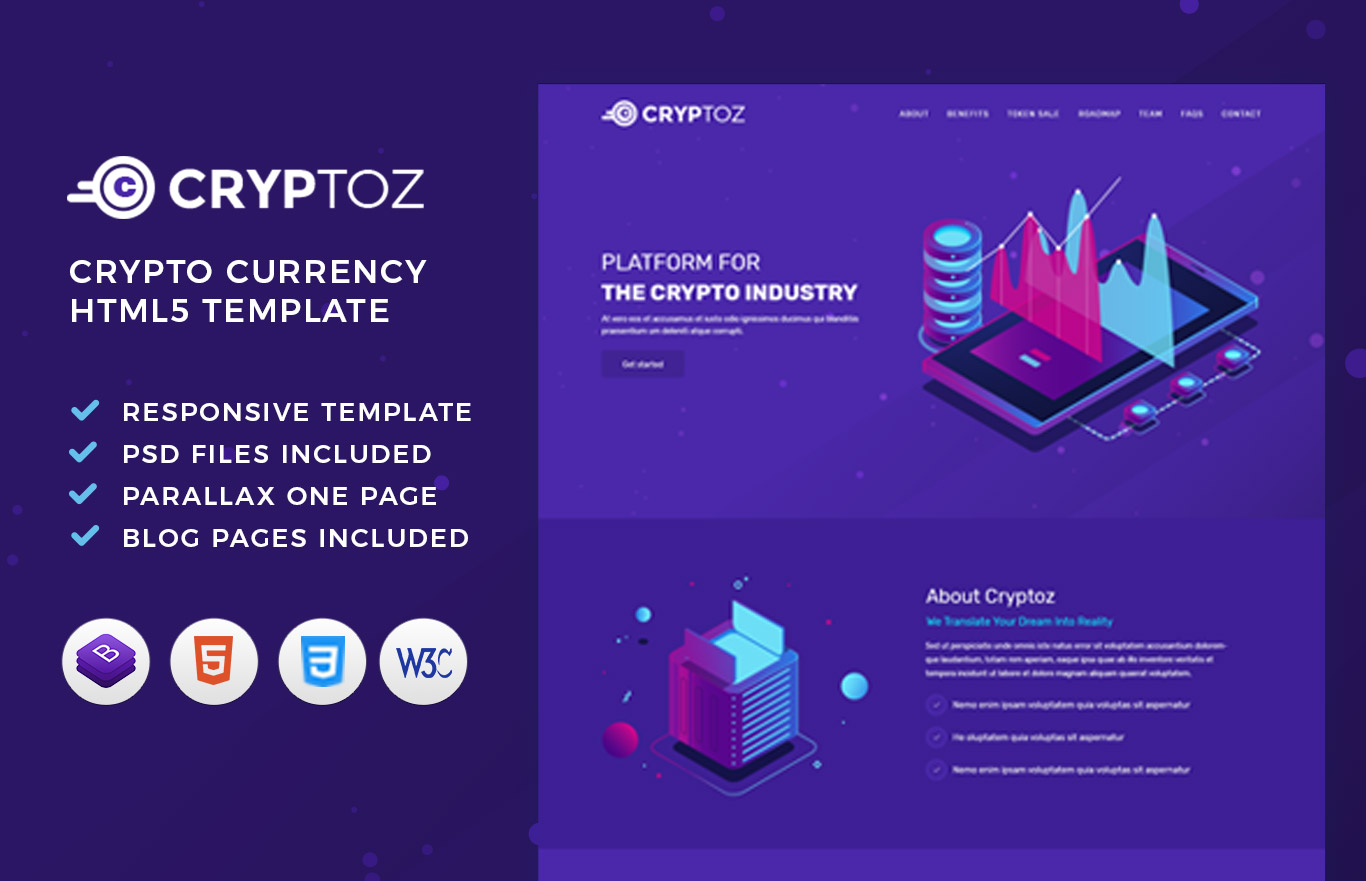 Cryptoz Crypto Currency HTML Template