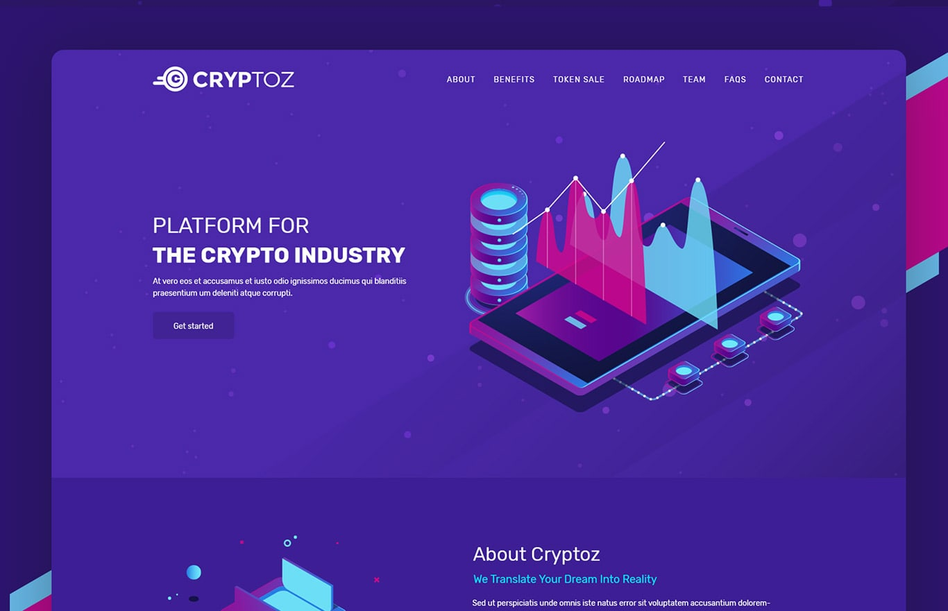 Cryptcon – ICO & Crypto Currency HTML Template