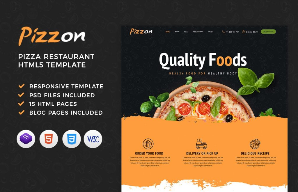 Pizzon – Pizza Restaurant HTML Template