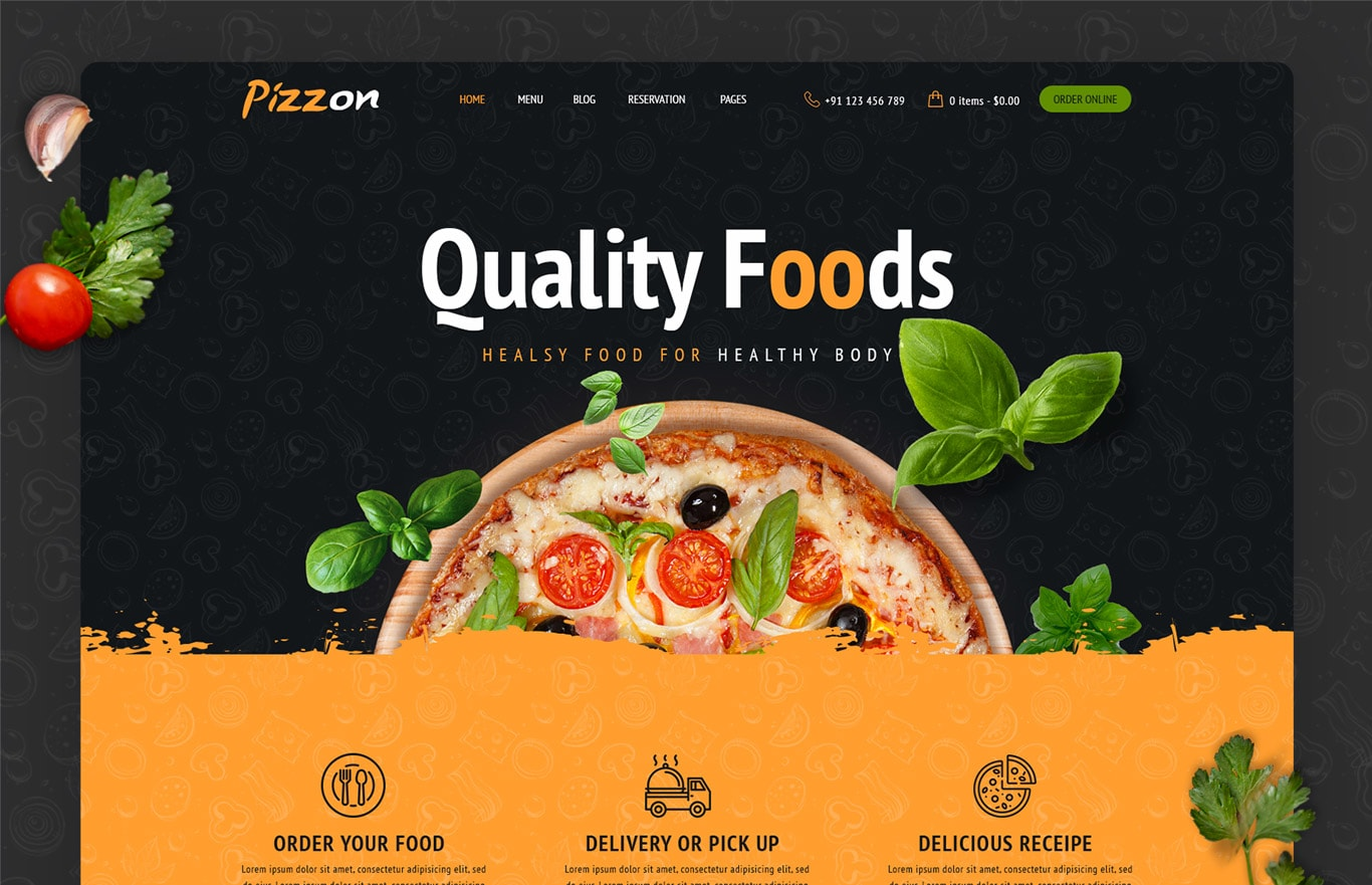 Pizzon – Pizza Restaurant HTML Template